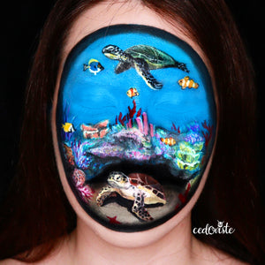 Around the World - Coral Reef Makeup Video by Cedoviste