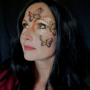 3D Butterfly Face Paint Design By Caroline Healy