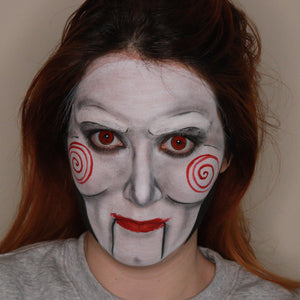 Jigsaw Halloween Makeup Design by Ana Cedoviste