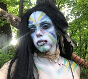 Avatar War Paint Makeup by Grimm Huneke
