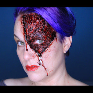 Zipper Face Halloween Tutorial by Stacey Perry