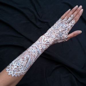 White Lace Glove Makeup by Caroline Healy