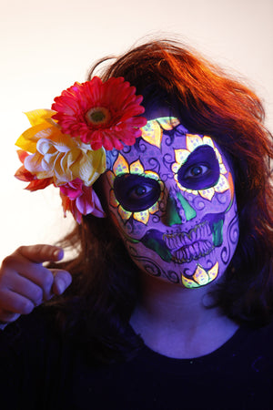 Sugar Skull Halloween Makeup Video Tutorial