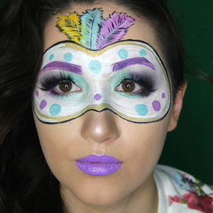 Mardi Gras Feather Mask Facepaint Video by PTBarpun