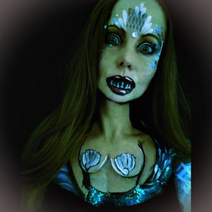 Scary Mermaid Halloween Makeup