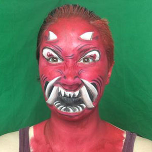 Oni Mask Inspired Demon Makeup by PTBarpun