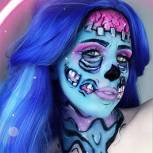 Pop Art Zombie Makeup Video by Grimm Huneke