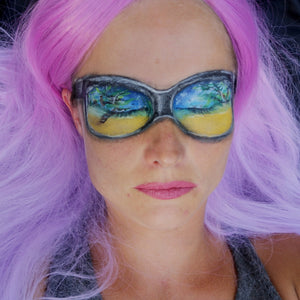 Summer Reflection in Sunglasses Facepaint