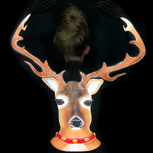 Reindeer Body Paint Illusion by Bengal Queen