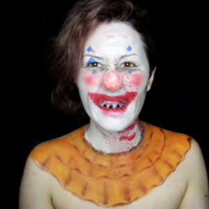 Scary Clown with Easy Fast Sharp Teeth video by PTBarpun