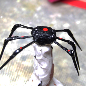 Fast Scary Spider for Cosplay or Makeup FX Video by PTBarpun