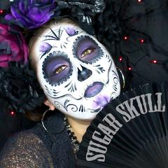 "Calavera ""Sugar Skull"" Face Paint Tutorial by Bengal Queen"