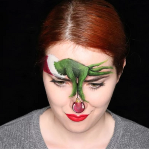 The Grinch Halloween Makeup by Ana Cedoviste