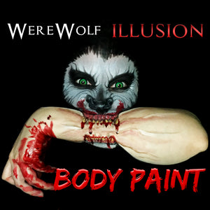 Fetch!!! Werewolf Illusion Body Paint Video by Bengal Queen