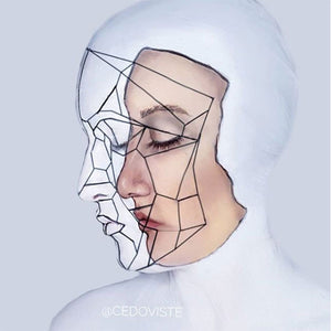 'White' Face Paint Illusion by Ana Cedoviste