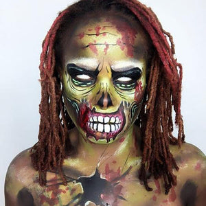 Halloween Zombie Makeup by zuri Fx