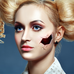 How to Do Broken Doll Makeup