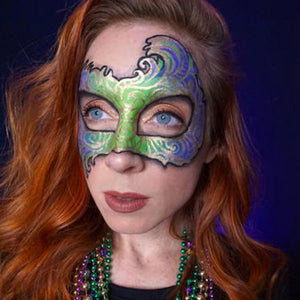 Mardi Gras Painted Mask Video by Brenna