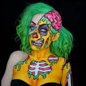 Pop Art Zombie Video Tutorial by Brenna