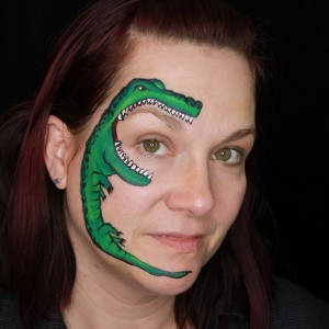 Gator Face Paint Tutorial