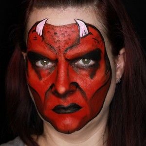 Devil Face Paint Tutorial