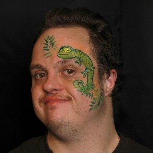 Cute Chameleon Face Paint