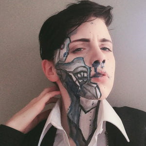 Broken Connor Makeup by Grimm Huneke