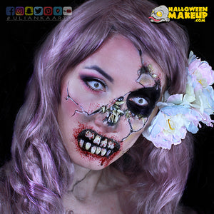 Creepy, Cracked Zombie Monster Makeup Design by Ulianka Arty