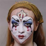 Queen of Hearts Halloween Makeup