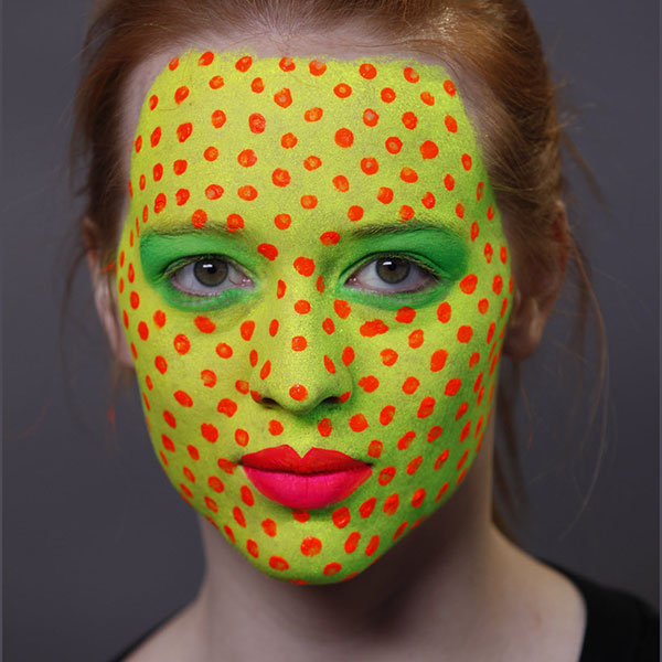 Blacklight Pop Art Halloween Makeup 5