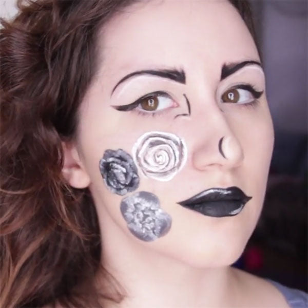 Black and White Floral and Beauty Makeup by PTBarpun