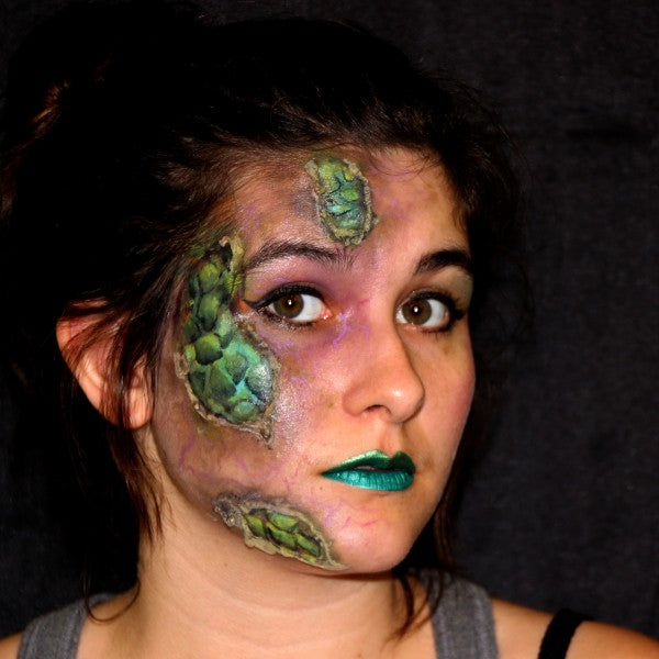 Reptile in Disguise Half Face Makeup