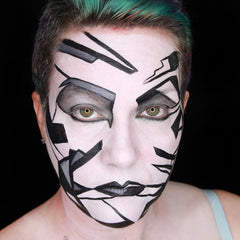 Monochrome Face Paint by Stacey Perry