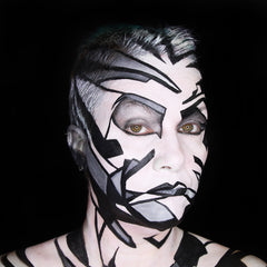Monochrome Face Painting by Stacey Perry
