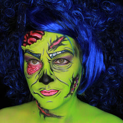 Pop Art Zombie Tutorial by Stacey Perry