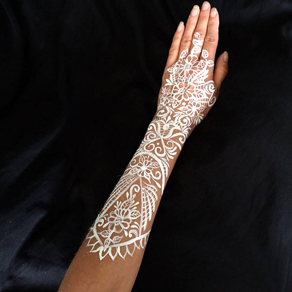 White Lace Glove Makeup Step 5