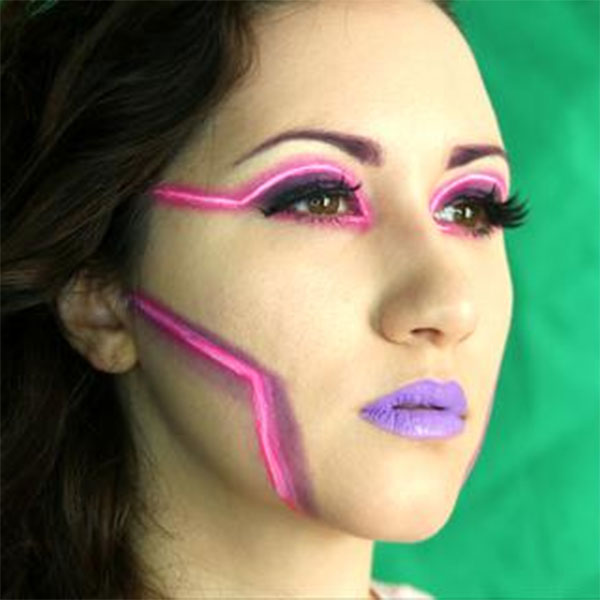 Neon Glam Beauty Makeup Video By Ptbarpun Halloweenmakeup Com