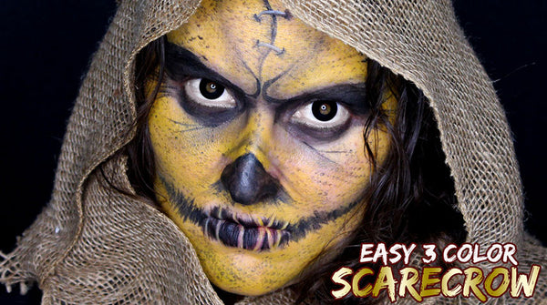 Easy 3 Color Scarecrow Face Paint Tutorial By Bengal Queen