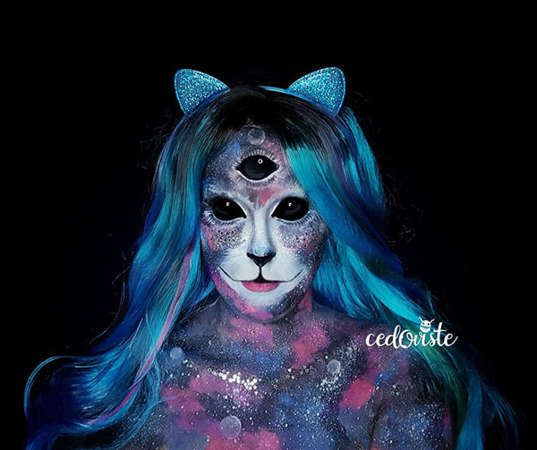 Space Cat Makeup by Ana Cedoviste