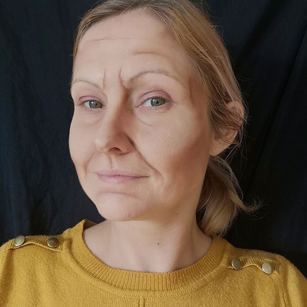 Old Age Makeup by Caroline Healy Step 2