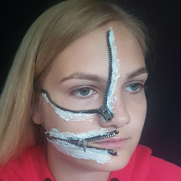 Zipper Face Step 2 by Caroline Healy
