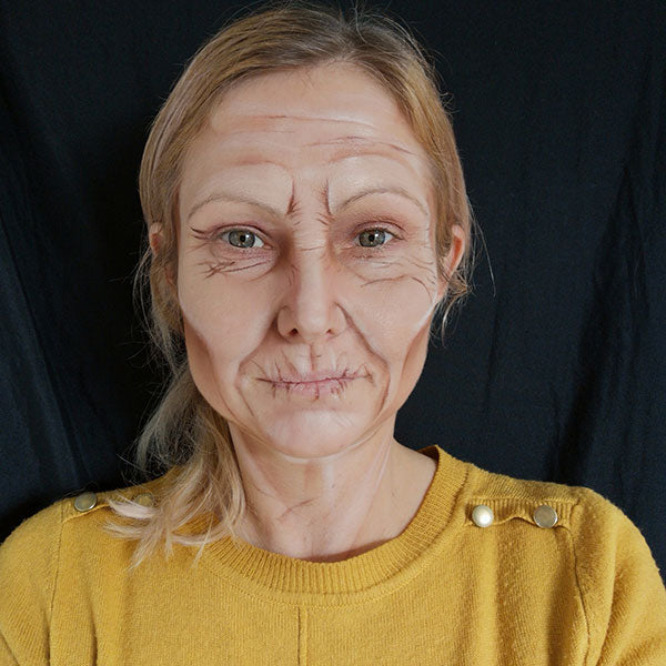 Old Age Makeup by Caroline Healy Step 4