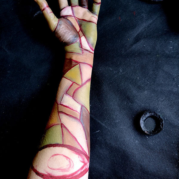Severed Zombie Arm FX Makeup 5 by Caroline Healy