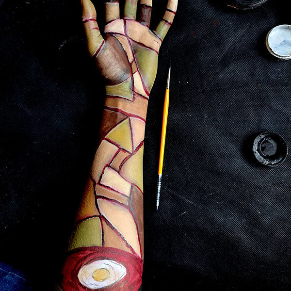Severed Zombie Arm FX Makeup 7 by Caroline Healy