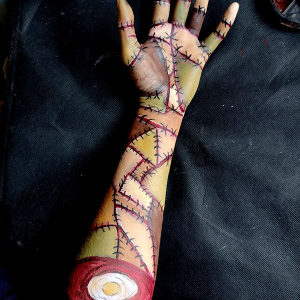 Severed Zombie Arm FX Makeup 8 by Caroline Healy