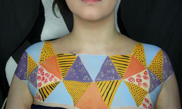 Sewn Together: Old Quilt Body Paint 9 by PTBarpun