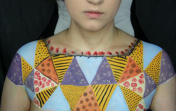 Sewn Together: Old Quilt Body Paint 13 by PTBarpun