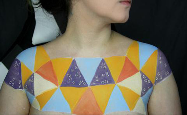Sewn Together: Old Quilt Body Paint 7 by PTBarpun