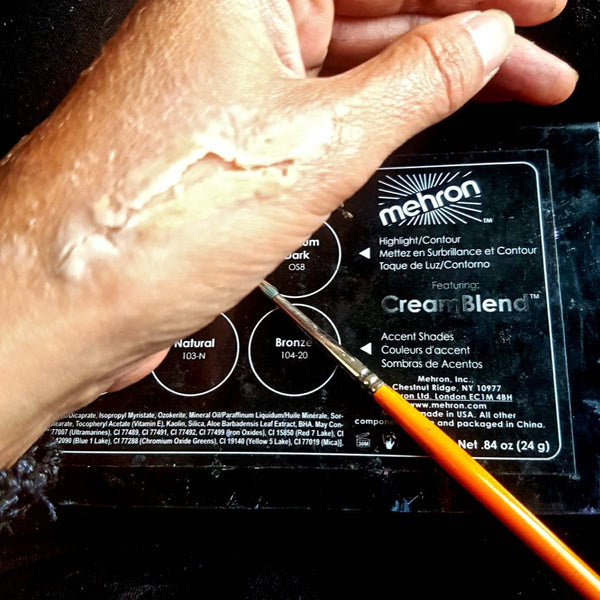 Easy SFX Cuts Step 3: Mehron Cream Palette