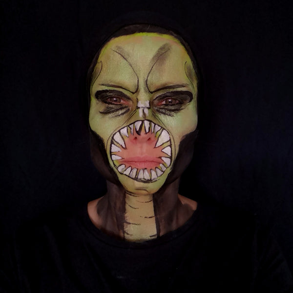 Alien Face Paint Design